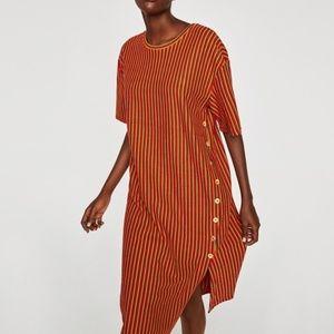 Zara Trafaluc Stripped T-Shirt Dress Size M